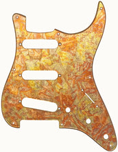 Fender Stratocaster Red Variegated Gold Leaf Pickguard