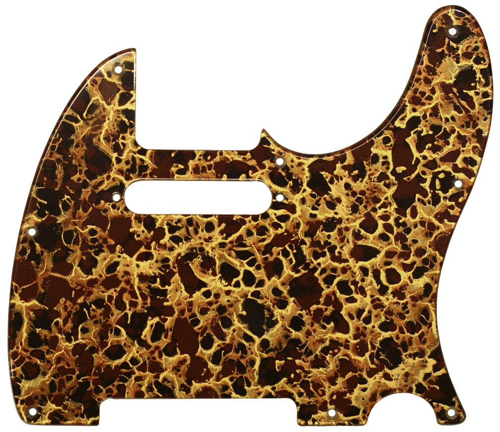 Fender Telecaster Pickguard Gold Acrylic Shell