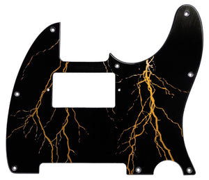 Fender Telecaster Pickguard Black Lightning