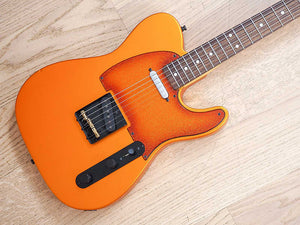 Fender Telecaster Pickguard Orange Burst Gold Sparkle
