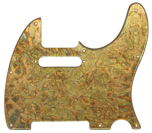 Fender Telecaster Pickguard Variegated Gold Leaf