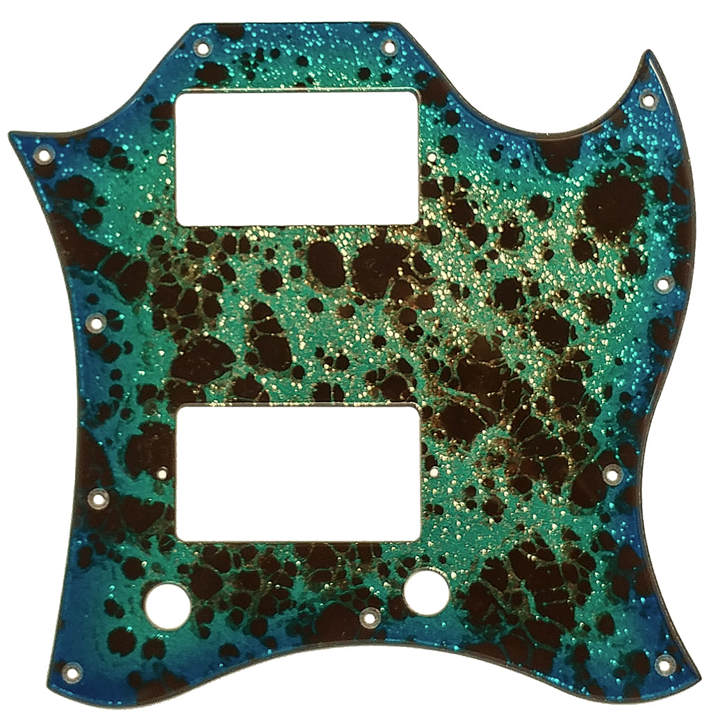 Gibson SG Large Pickguard Ocean Turquoise Gold Sparkle