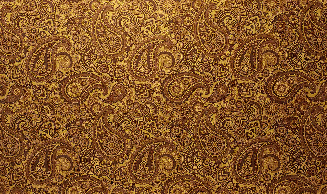 Pickguard Sheet Gold Paisley