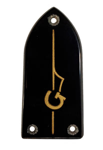 Gretsch Black with Gold G-Arrow Bullet Truss Rod Cover