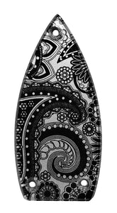 Gretsch Silver Paisley Truss Rod Cover