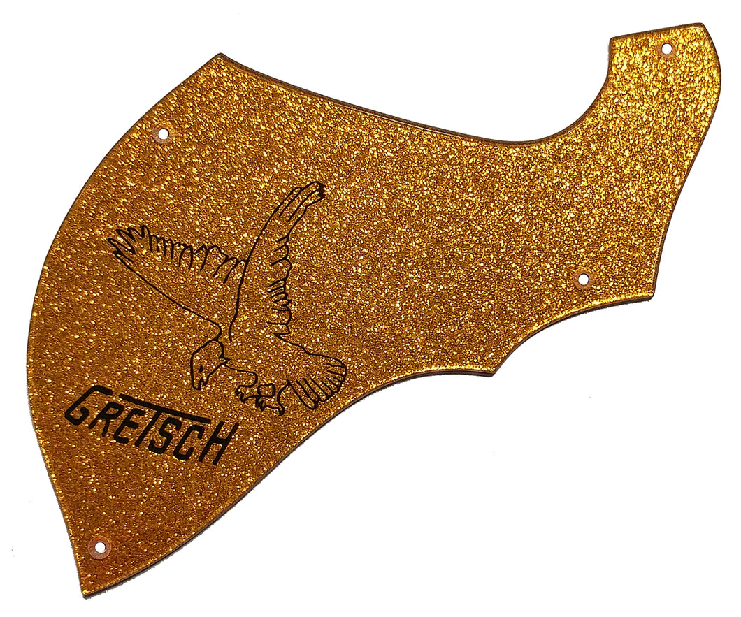 Gretsch 5022 Falcon Rancher Custom Shape Pickguard Orange Gold Sparkle