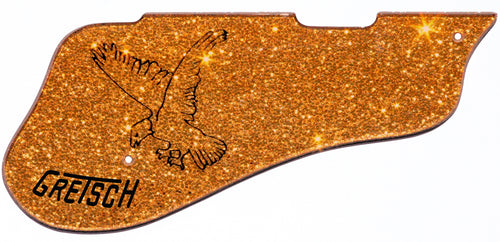 Gretsch 6136 Orange Sparkle Falcon Pickguard