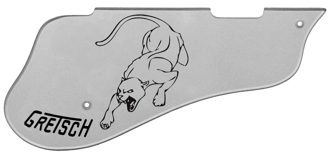 Gretsch 6137TCB Pickguard Silver with Black Panther