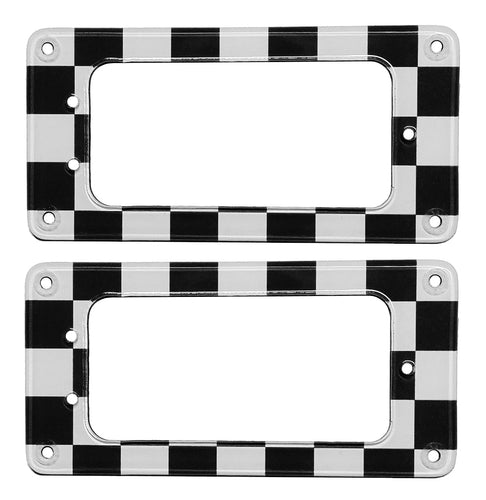 Gretsch Pickup Rings B&W Checker Board