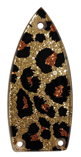 Gretsch Leopard Gold Sparkle Truss Rod Cover