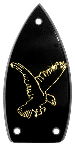 Gretsch Black with Gold Sparkle Falcon Truss Rod Cover