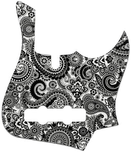 Lakland DJ Darryl Jones Black & White Paisley Pickguard