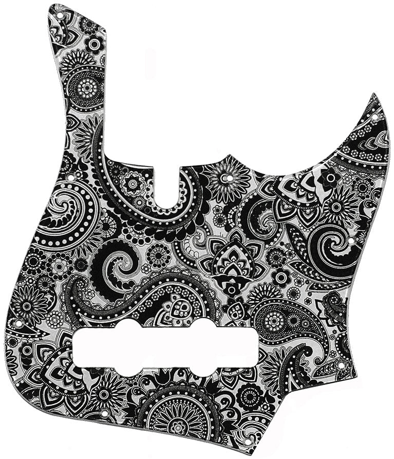 Lakland Darryl Jones Black Silver Paisley Pickguard