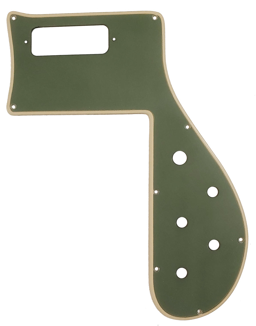 Rickenbacker 4001 Pickguard Matte Olive Green Cream Binding