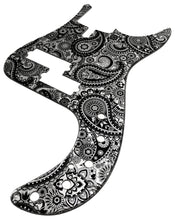 Sire P7 Bass Pickguard Black Silver Paisley