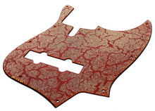 Sire V7 Bass Pickguard Red Crackle Gold Sparkle