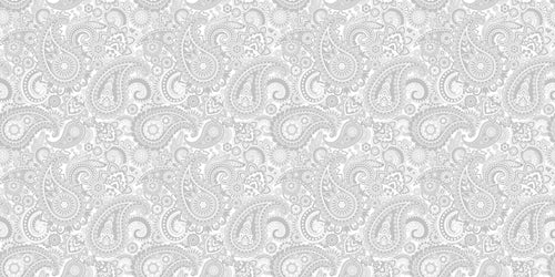Pickguard Sheet Matte White Paisley
