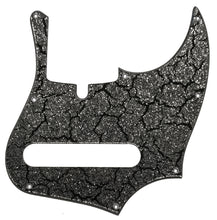 Xotic XJ Provintage Bass Pickguard Black Crackle Silver Sparkle