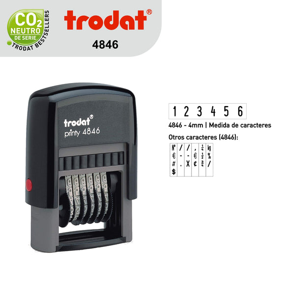 Sello Trodat Numerador 4846