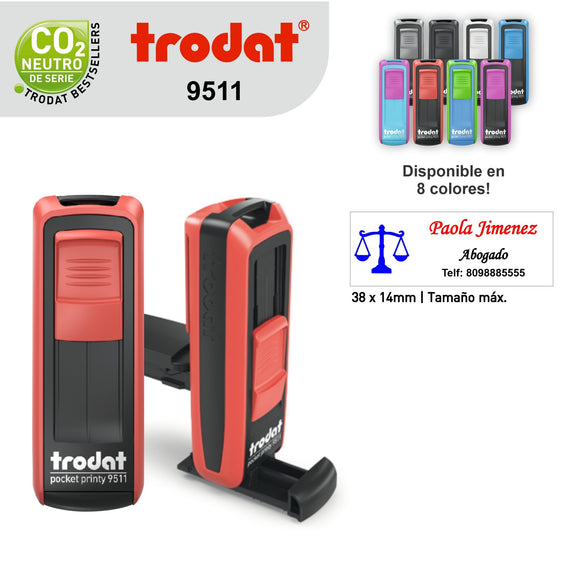 Sello Trodat Pocket Printy 9511
