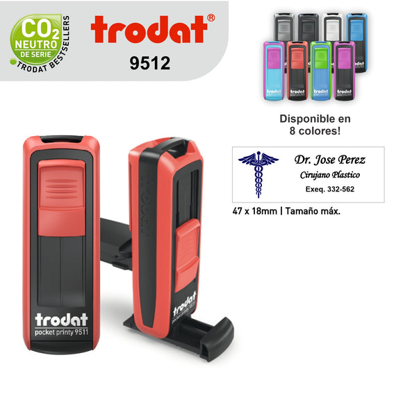 Sello Trodat Pocket Printy 9512