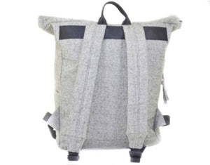 GOUSE - No.2 Grey Roll Top Backpack High Quality Casual Cool Minimalist Rucksack