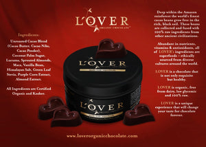 Lover Organic Chocolate Gift Tin | Heart Pieces w/ Superfoods | BUY NOW!