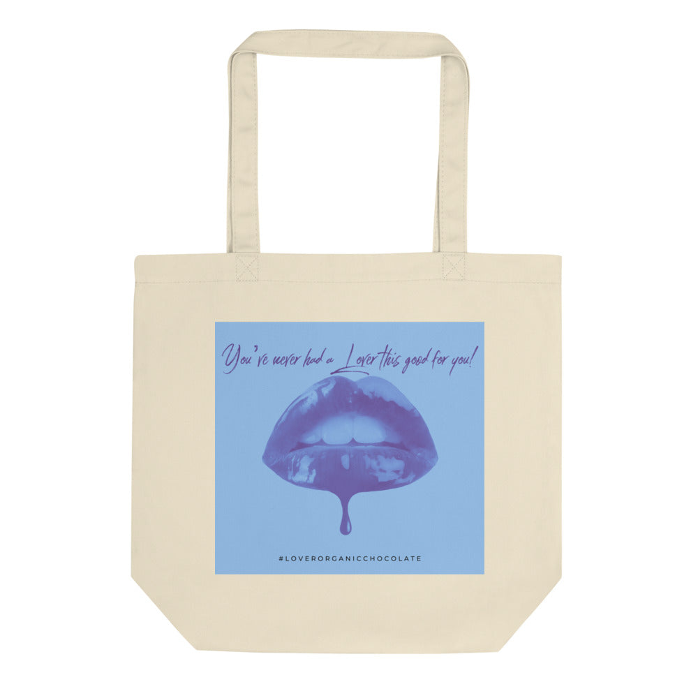 Lover Pop Art Organic Eco Tote Bag (Blue)