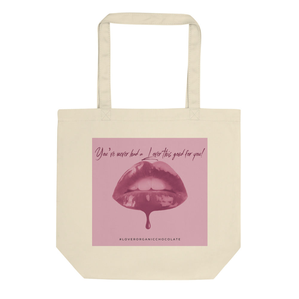 Lover Pop Art Organic Eco Tote Bag (Pink)