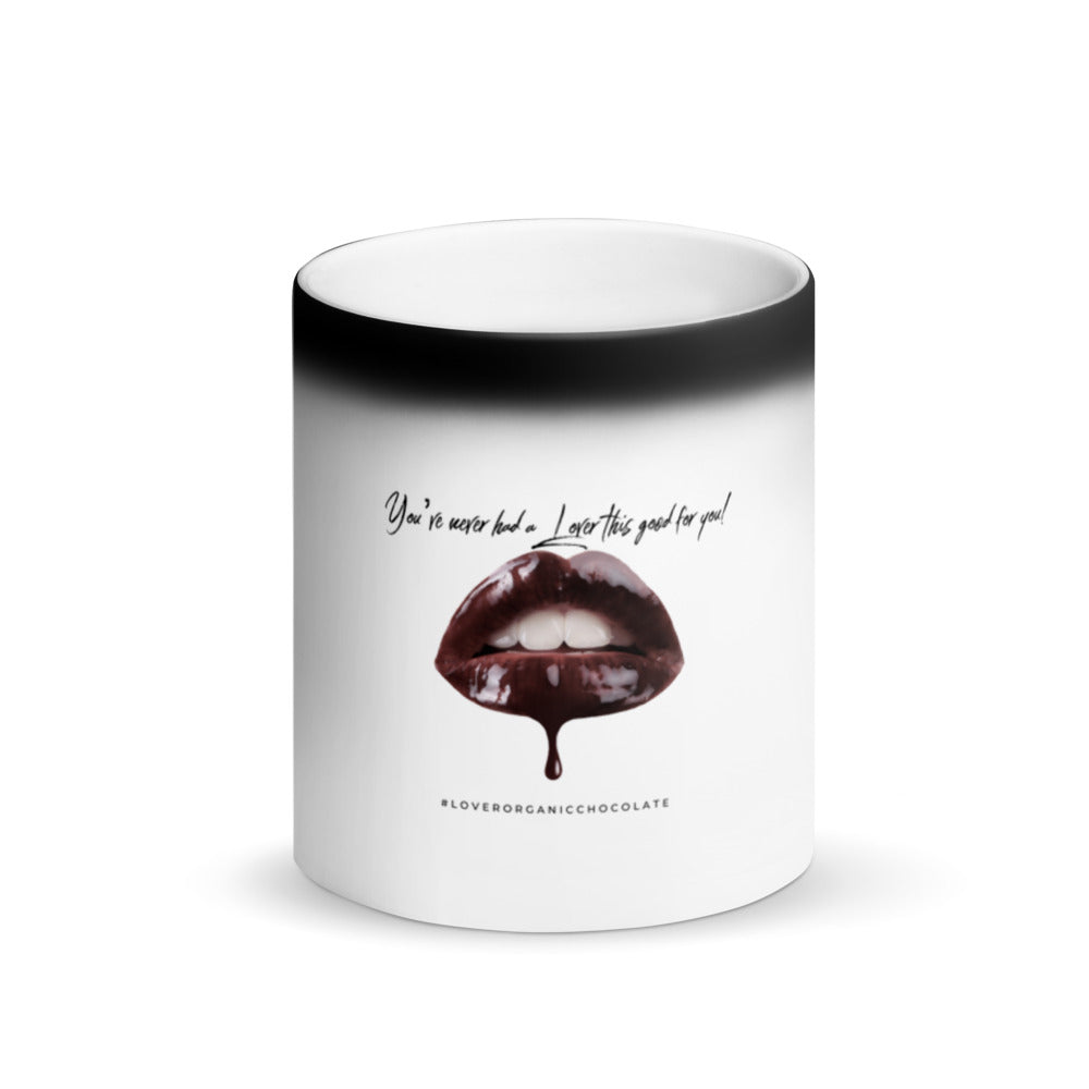 Lover Chocolate Lips Magic Mug (Matte Black)