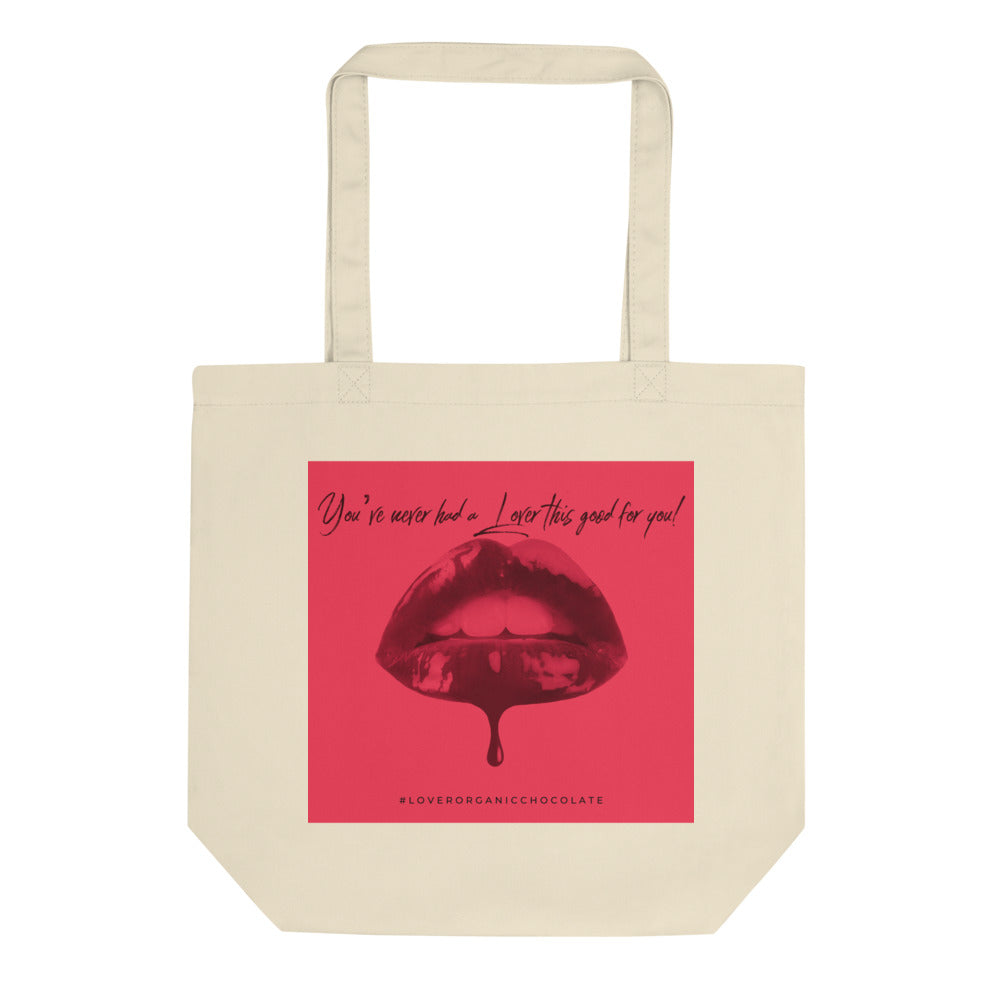 Lover Pop Art Organic Eco Tote Bag (Red)