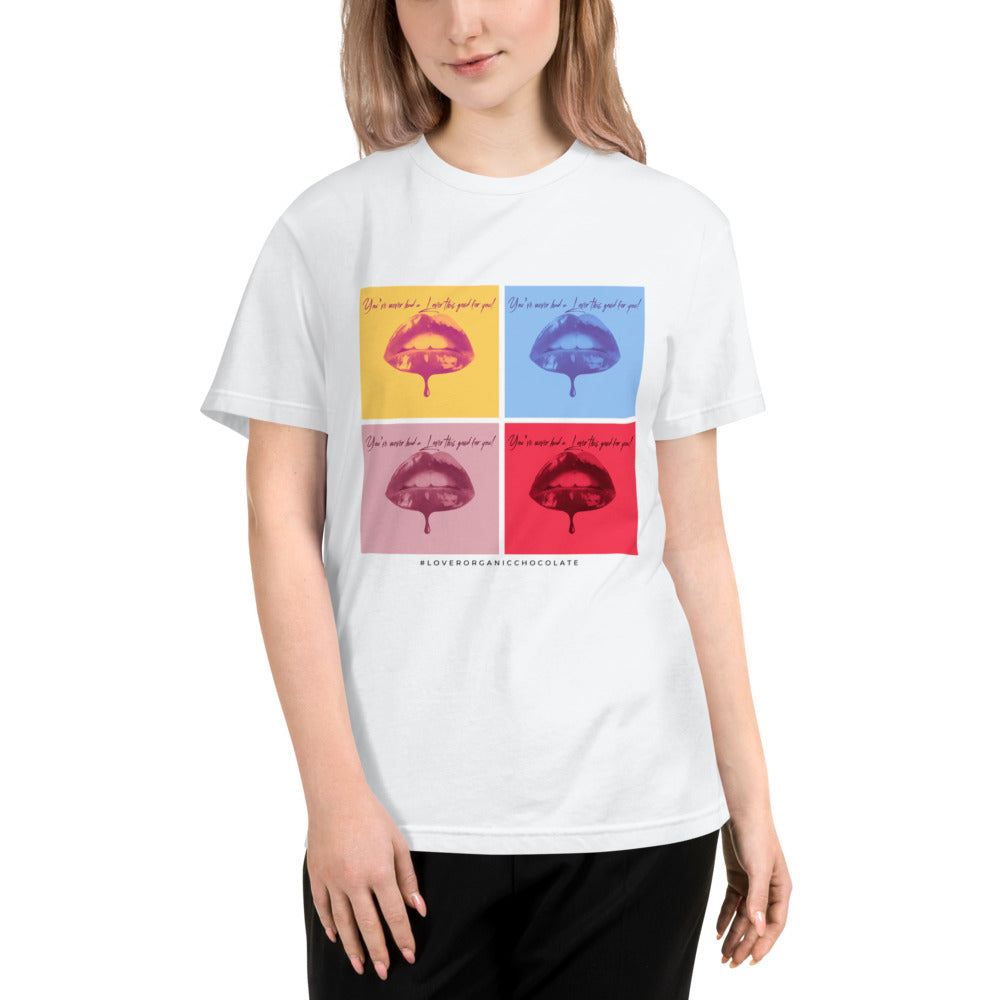 Lover Pop Art / Organic Eco T-Shirt (White) Unisex