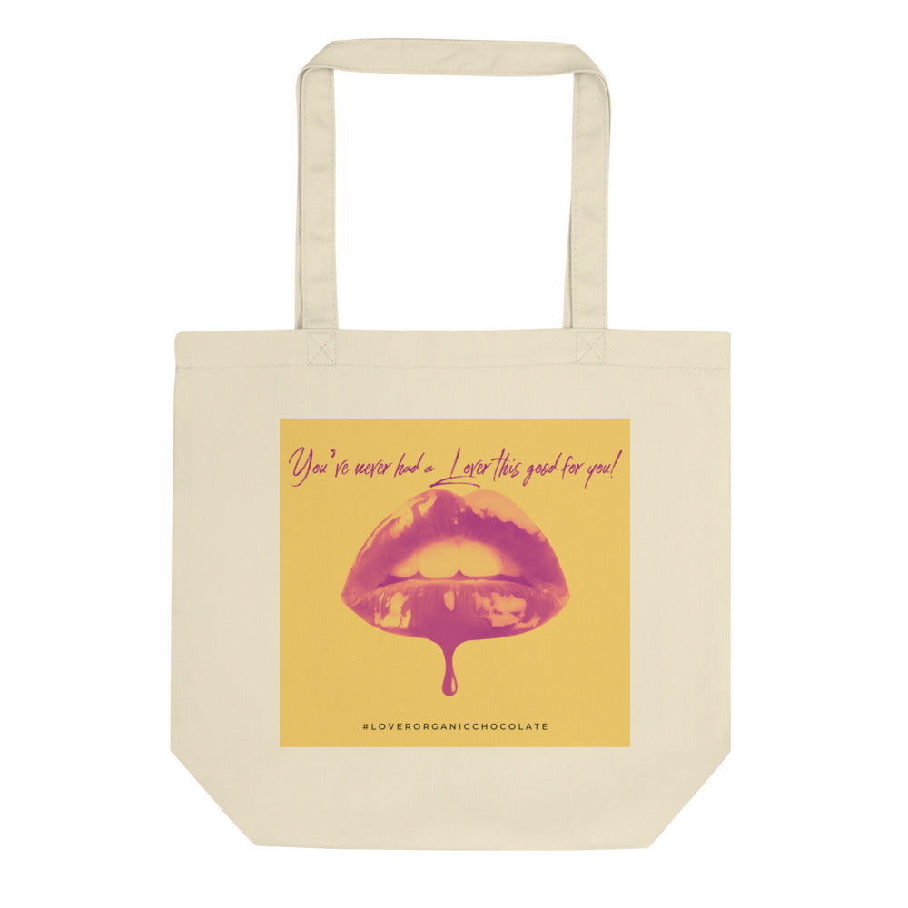 Lover Pop Art Organic Eco Tote Bag (Yellow)