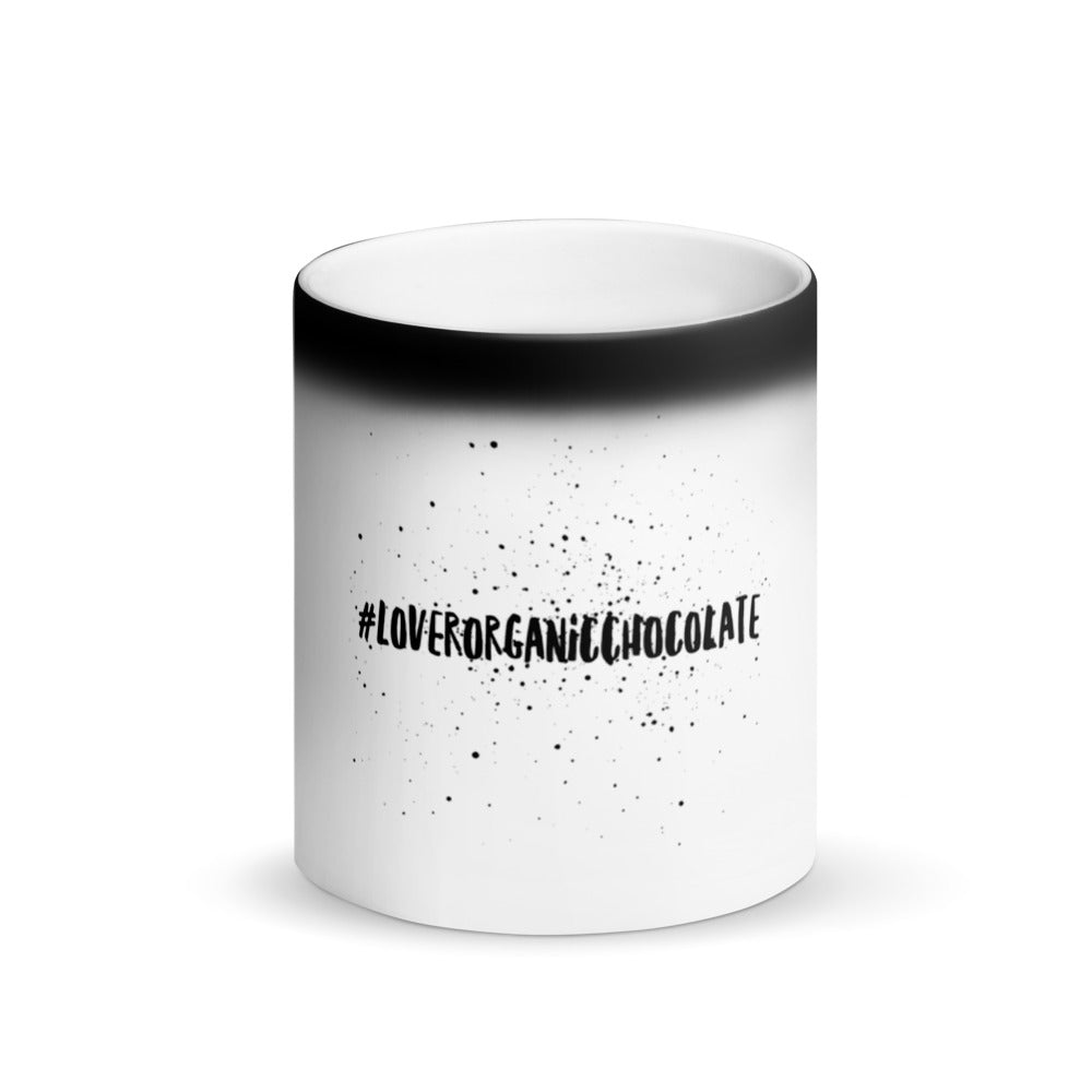 #LoverOrganicChocolate Magic Mug (Matte Black)