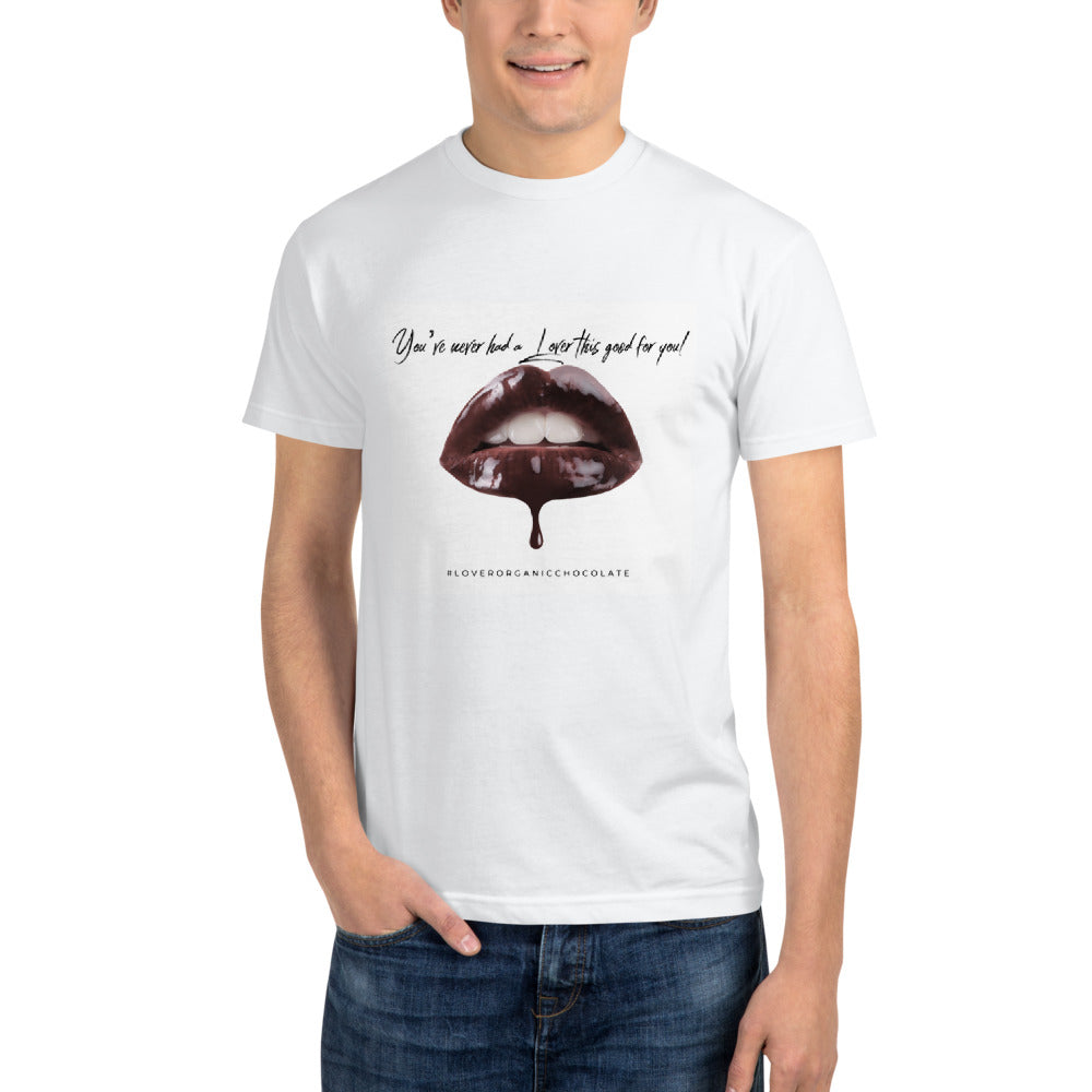 Lover Chocolate Lips / Organic Eco T-Shirt (White) Unisex
