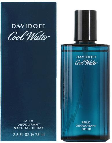 Davidoff Cool Water for Men 75ml Mild Deodorant Natural Spray