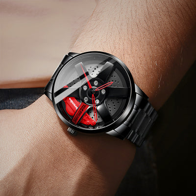 Racr - Hollow Skeleton Alloy Wheel Watch