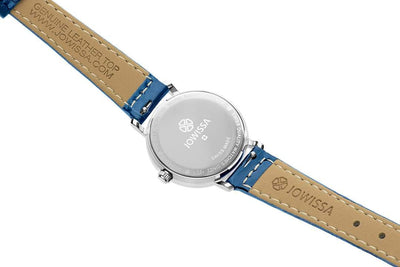 Roma Swiss Ladies Blue Leather Watch
