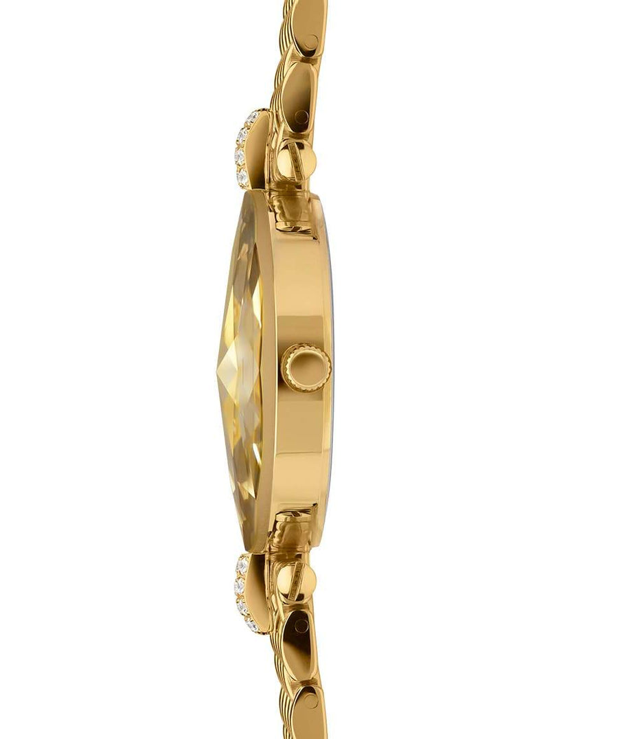 Facet Strass Swiss Ladies Watch - Gold Bracelet