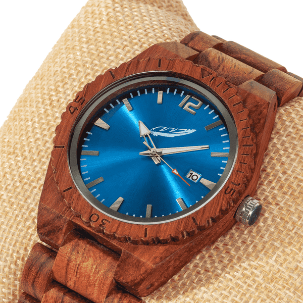Personalized Engraved Wooden Watches - Kosso Wood Free Custom Engraving - HighStreetPop