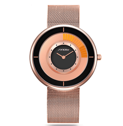 Fashion Unique Rotating Luxury Ultra-Thin Steel Watch - HighStreetPop