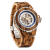 Men Genuine Automatic Watch - Zebra Wooden Watch No Battery Needed - HighStreetPop