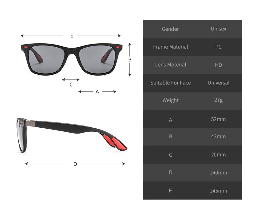 Squared - Stylish Polarized Men's Sunglasses