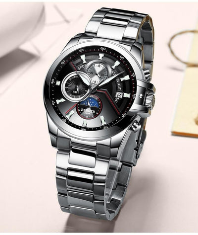 Luxury Mechanical Luminous Leather Automatic Watch for Men - HighStreetPop