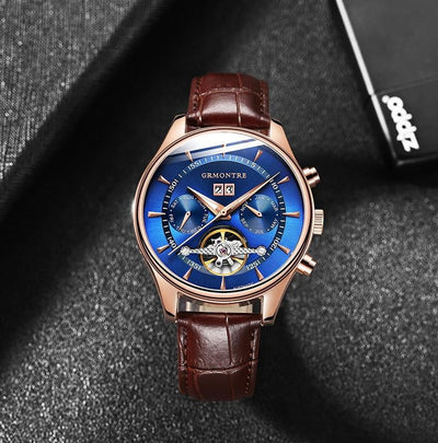 Skeleton Tourbillon Automatic Mechanical Wrist Watch Men - HighStreetPop