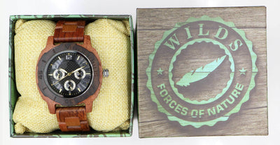 Multi-Function Custom Wooden Watches - Kosso Wood Personalize Your Watch - HighStreetPop