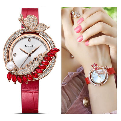 Luxury DIY Bracelet Quartz Leather Watch for Women - HighStreetPop