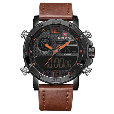 Dual Display LED Digital Clock Waterproof - Sports Chronograph watches for men - HighStreetPop