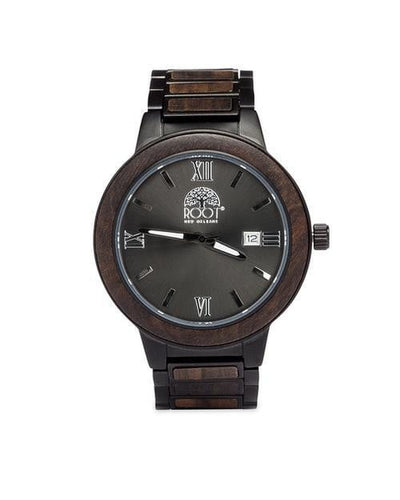 Handcrafted  GIANNI VII Ebony WATCH from Sustainable Wood - HighStreetPop