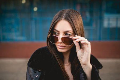 LAKEFRONT | ROSEGOLD  Sunglasses from Eco-friendly Materials - HighStreetPop
